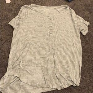american eagle button up t shirt